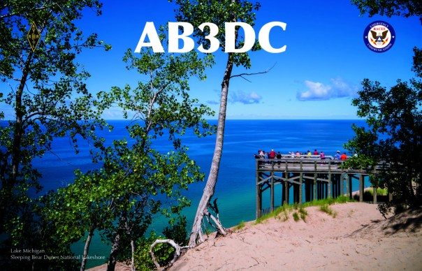 AB3DC QSL Card Front