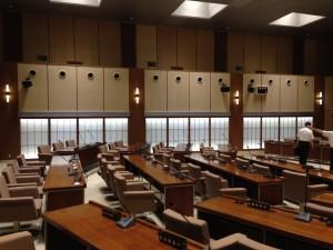 盛岡市議会議場