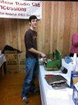 Will, KI4VXF, cooking the BBQ