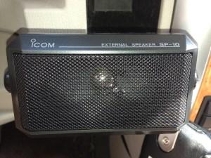 Icom SP-10 mobile speaker.