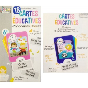 246 - Cartes Educatives - J'apprends l'heure