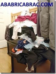 Vêtements sur le palier à ranger