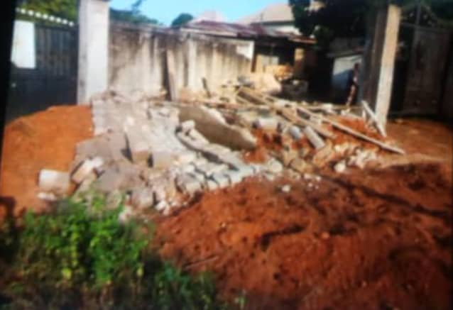 How Enugu Monarch Demolished Poor Widow's Shop Built By Her Son, Vowed To Forcefully Takeover Her Land