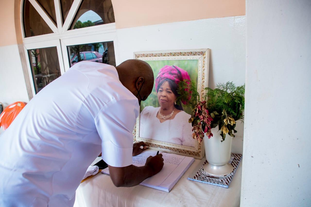 Abia Speaker Pays Condolence Visit to the families of Ironsi, Michael Okpara, Agbazuere, Mpama and Joshua Ezebuiro