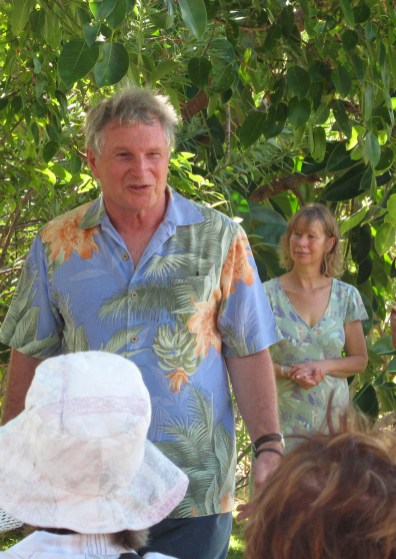 Chris Dale welcomes Horticultural Society Members to Papillon