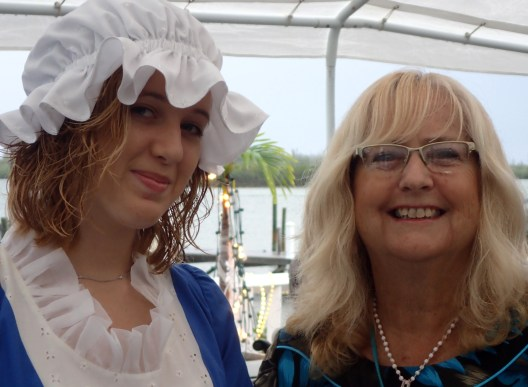 Leia Lowe with event committee member Mandy Roberts