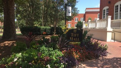 ABAC Grounds Keepers maintain colorful flower beds all across campus.