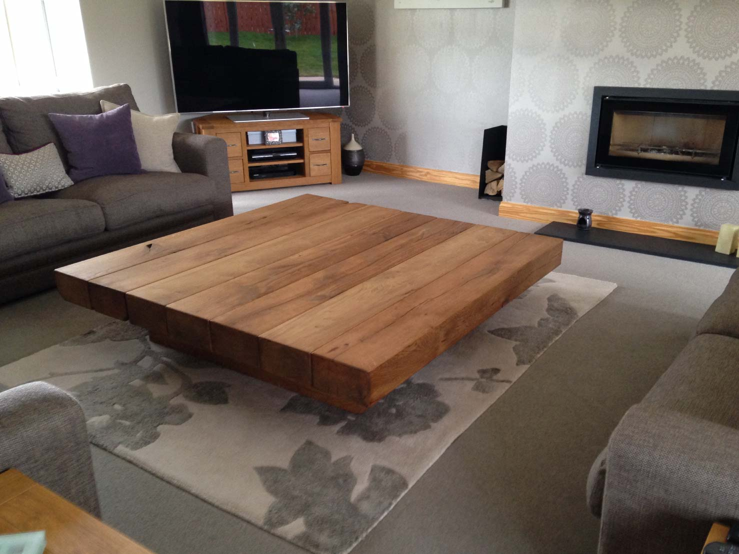 Project #201 Large Square Coffee Table