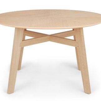Article ventu light oak round dining table