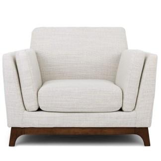 Ceni Fresh White Armchair front