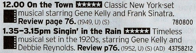 BBC2 - Here you go! Two classic musicals back to back!