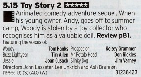 ITV1 - The best sequel ever made? Certainly the best of the Pixar sequels
