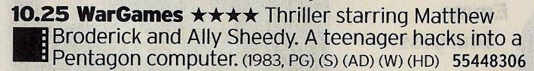 ITV1 - 80s classic right here