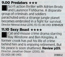 Film4 - First you have the best modern Predator film we're likely to get and then one of the best UK crime films you'll ever see