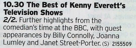 BBC4 - More Kenny! Yas!