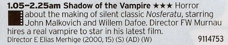 0105 BBC2 - A great little film about the making of the original vampire film Nosferatu