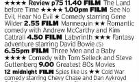 1140 - 5Star - Wow. This is some 80s marathon from 5Star. It runs the full spread of quality from Labyrinth to See No Evil Hear No Evil, but you can't fault the ballsiness of it. Astonishing scheduling