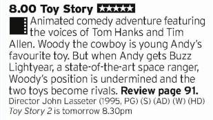 2000 - BBC3 - Just to reiterate, PIxar are really good at films