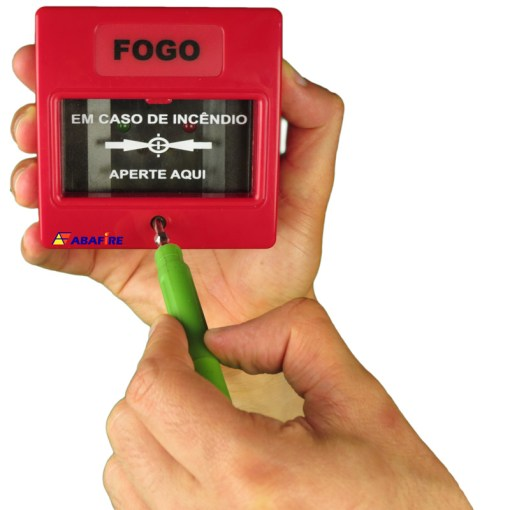 Botoeira e Acionador Manual Convencional (Convencional Call Point) código AFAM2. Ideal para Central de Alarme de Incêndio. Imagem 09