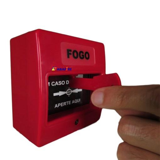 Botoeira e Acionador Manual Convencional (Convencional Call Point) código AFAM2. Ideal para Central de Alarme de Incêndio. Imagem 08