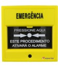 Acionador Manual e Botoeira de Comando Para Controle de Acesso e Emergência na Cor Amarela com Relé NA/NF código AFAM3AM - Imagem 01