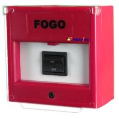 Acionador Manual e Botoeira de Comando Para Acionamento de Bomba de Incêndio Com Um Botão de Retenção Liga/Desliga código AFBLD1 - Imagem 02