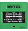Acionador Manual e Botoeira de Comando Para Controle de Acesso e Emergência na Cor Verde com Relé NA/NF código AFAM3VD - Imagem 01