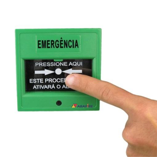 Acionador Manual e Botoeira de Comando Para Controle de Acesso e Emergência na Cor Verde com Relé NA/NF código AFAM3VD - Imagem 05