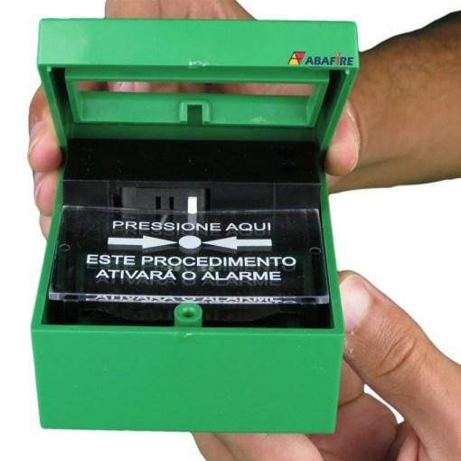 Acionador Manual e Botoeira de Comando Para Controle de Acesso e Emergência na Cor Verde com Relé NA/NF código AFAM3VD - Imagem 07