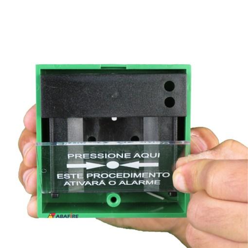 Acionador Manual e Botoeira de Comando Para Controle de Acesso e Emergência na Cor Verde com Relé NA/NF código AFAM3VD - Imagem 09