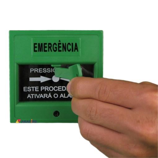 Acionador Manual e Botoeira de Comando Para Controle de Acesso e Emergência na Cor Verde com Relé NA/NF código AFAM3VD - Imagem 13