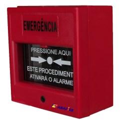 Acionador Manual e Botoeira de Comando Para Emergência com Relé NA/NF código AFAM3VM - Imagem 02