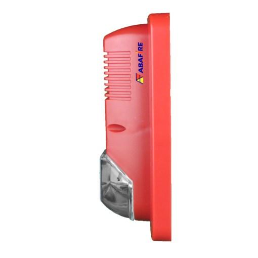 Sirene Audiovisual de Alarme de Incêndio Tensão de 24V com Flashes de Xenon e Alerta Sonoro com 03 Tipos de Toques código AFSX - Imagem 03