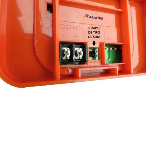 Sirene Audiovisual de Alarme de Incêndio Tensão de 24V com Flashes de Xenon e Alerta Sonoro com 03 Tipos de Toques código AFSX - Imagem 05