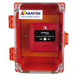 Botoeira e Acionador Manual de Alarme de Incêndio Endereçável Para Áreas Externas, a prova de tempo IP65 (Addressable Manual Call Point for outdoor áreas). Código AME520PT. Imagem 01