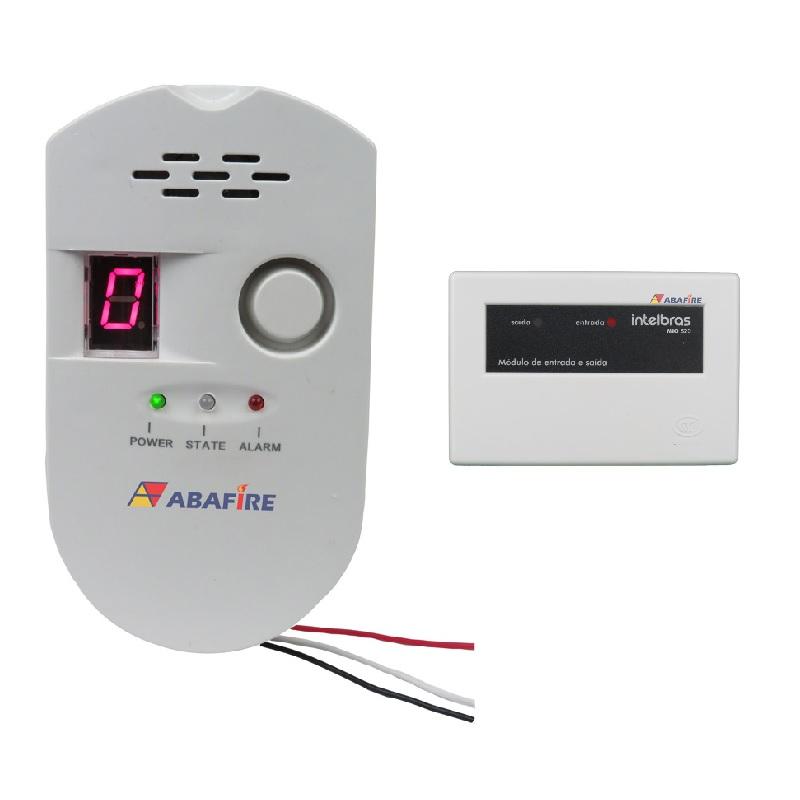 Detector pontual de vazamento de gás GLP e Gás Natural com módulo endereçável e saída relé NA/NF, código AFDG2E - Imagem 01