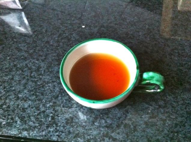 A cup of tea each morning keeps the cold away! My mom adds lemon and a salt, I prefer lemon and honey.