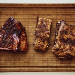 Costillas de cerdo Barbacoa a baja temperatura