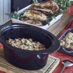 Stuffing en crockpot: o cómo el hacer el relleno del pavo sin importar el pavo.