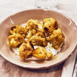 Coliflor a baja temperatura con curry
