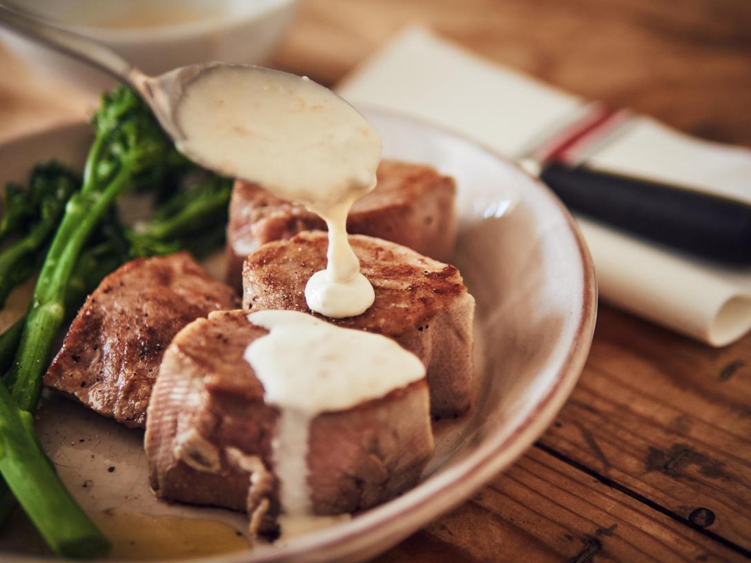 solomillo de cerdo a baja temperatura sous vide con gorgonzola