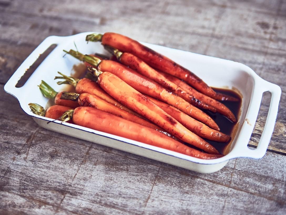 zanahorias sous vide a baja temperatura con soja y mirin