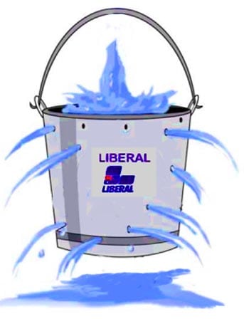 leaking bucket