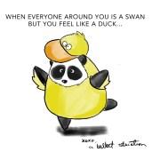 fat panda does ballet swan lake