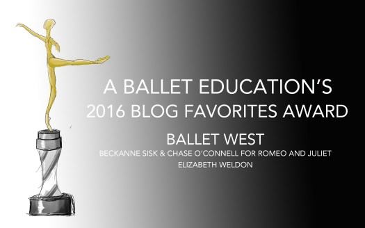 A BALLET EDUCATION AWARD