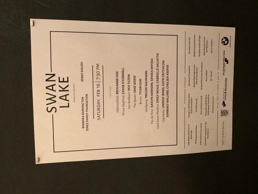 Ballet West Swan Lake Program 2019