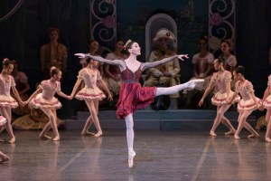 Álvarez in Balanchine's Coppélia. Liza Voll, Courtesy Boston Ballet