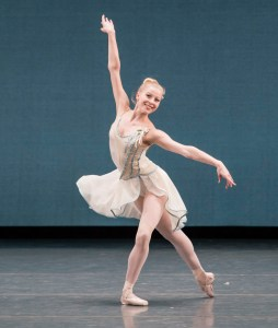 Atkins in George Balanchine's Chaconne. Liza Voll, Courtesy Boston Ballet.