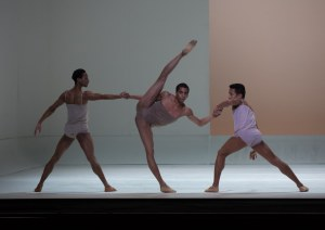 Rines (center) in Wayne McGregor's Chroma. Rosalie O'Connor, Courtesy Boston Ballet.