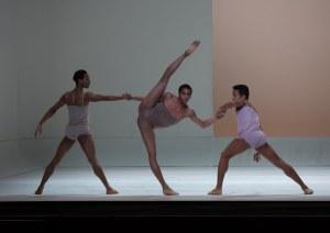 Rines (center) in Wayne McGregor's Chroma. Rosalie O'Connor, Courtesy Boston Ballet.